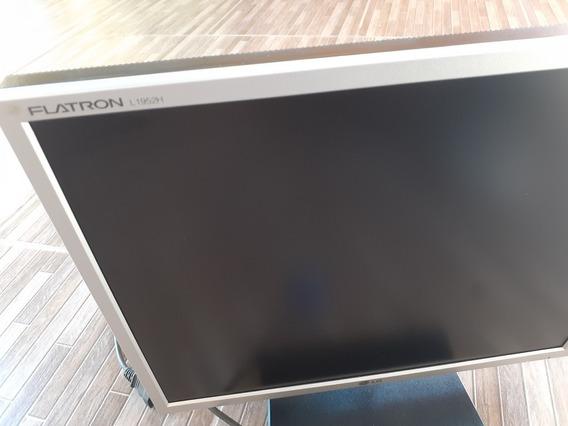 Monitor Lcd LG Flatron L1952h + Dvi / Vga Com Todos Os Cabos