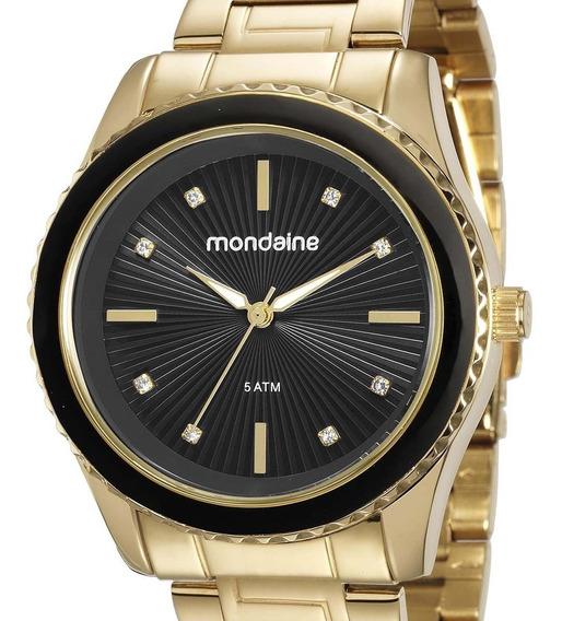 Relógio Mondaine Feminino Original Dourado 76568lpmvde5 + Nf