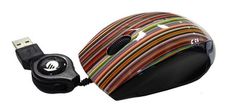 Mouse Optico Usb Con Cable Retractil Pc Notebook Gtia Oficial