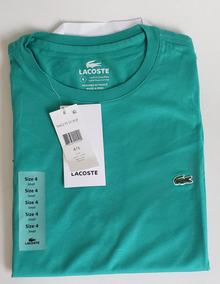 b0aaf38fbbc Camiseta Lacoste Verde Manga Curta Original