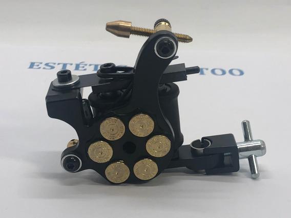 Máquina De Tatuagem Profissional De Bobina Modelo Revólver