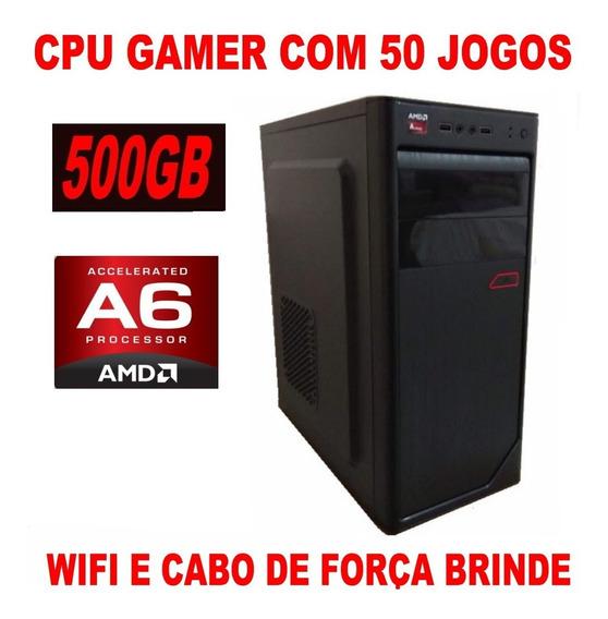 Computador Cpu Pc 8gb Com 50 Jogos 500gb Corew Photoshop
