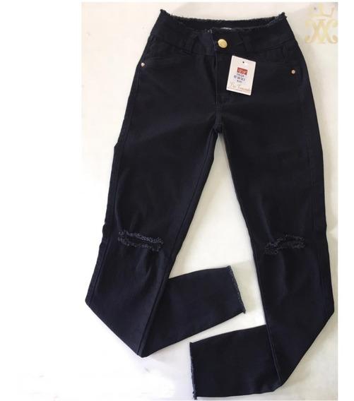 Kit 10 Calças Jeans Cintura Alta Hot Pants Lycra Oferta Cçc