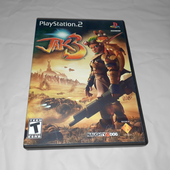 Jogo Jak 3 Ps2 Playstation Black Label Original Raridade!!!