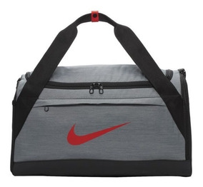 Bolsa Nike Brasilia Duffel Small - Ba5976-065 Cinza/vermelho