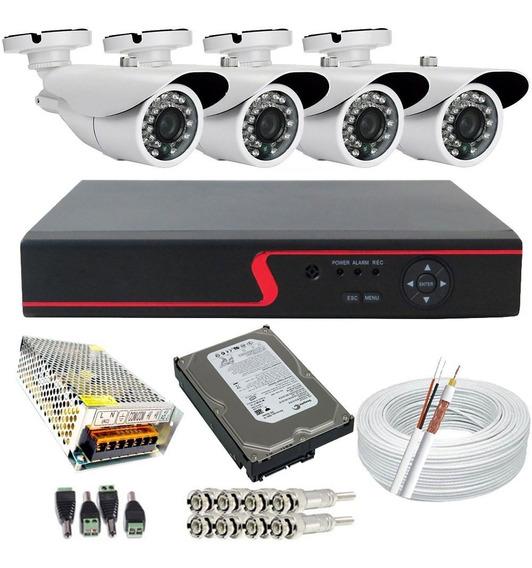 Kit Câmeras De Segurança Residencial Ahd Acesso Internet P2p