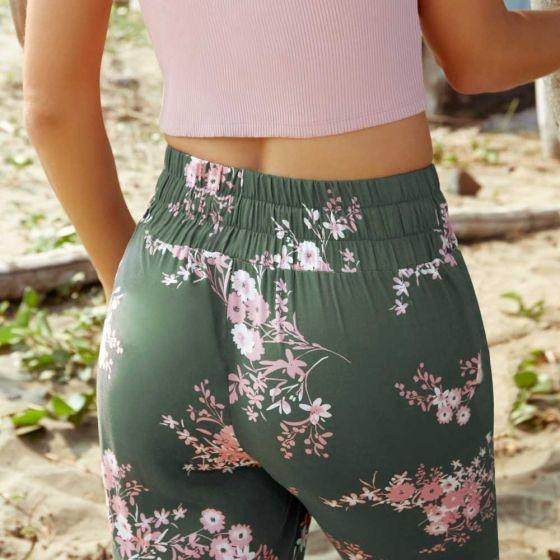 Pantalon Casual Estampado Cintura Regular De Tubo Hollyland