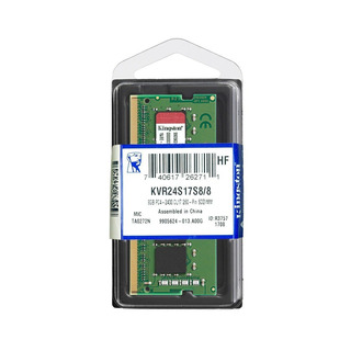 Memoria Kingston Kvr24s17s8/8, 8gb, Ddr4, So-dimm, 2400 Mhz,