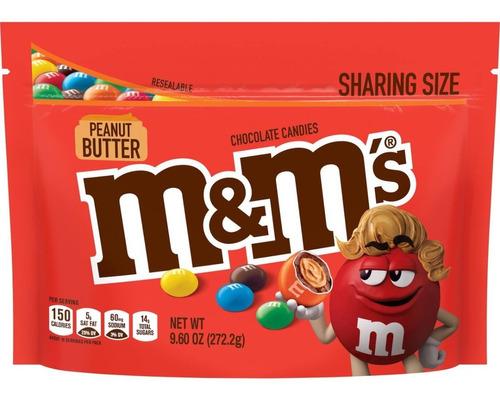 Imagen 1 de 5 de M&m's Peanutbutter Chocolate Relleno Crema De Maní Importado