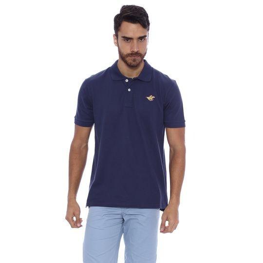 Camisa Polo Piquê - Azul Marinho P The Polo Club Original