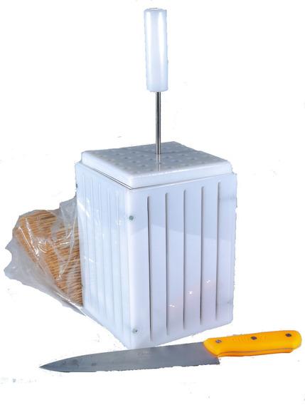 Maquina Fazer Espetinhos - 36 Espetos 110 Gr+faca+insersor