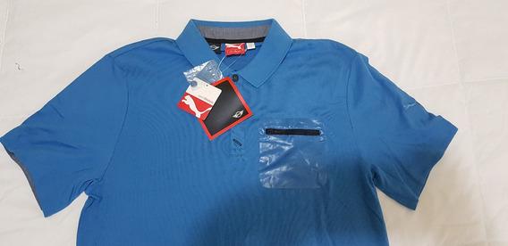 Camisa Polo Puma Mini Cooper Vallarta Blue Talla Grande