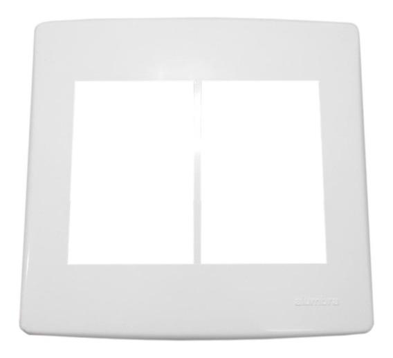 Espelho Placa 6 Posto Com Suporte 4x4 Tampa Alumbra Siena