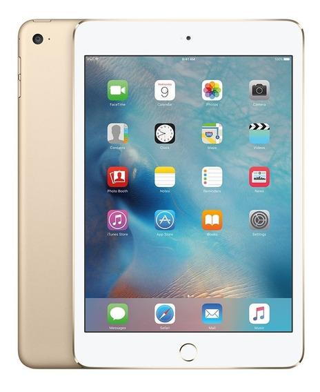 iPad Mini 4 Wifi Celular 128gb Gold Com Nf