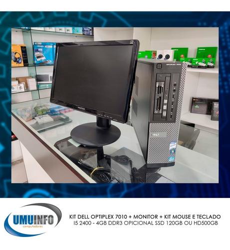 Imagem 1 de 10 de Kit Dell Optiplex 7010 + Monitor + Kit Mouse E Teclado 4gb