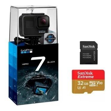 Câmera Gopro Hero 7 Black + Cartão De Memória Sandisk 32gb