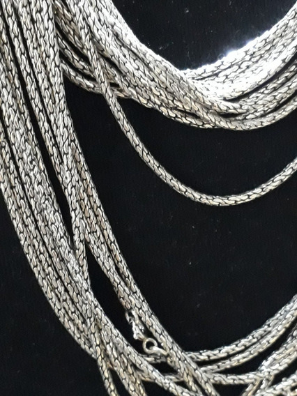 Corrente Bali Redonda Fina Masculina Prata 925 2mm 60cm