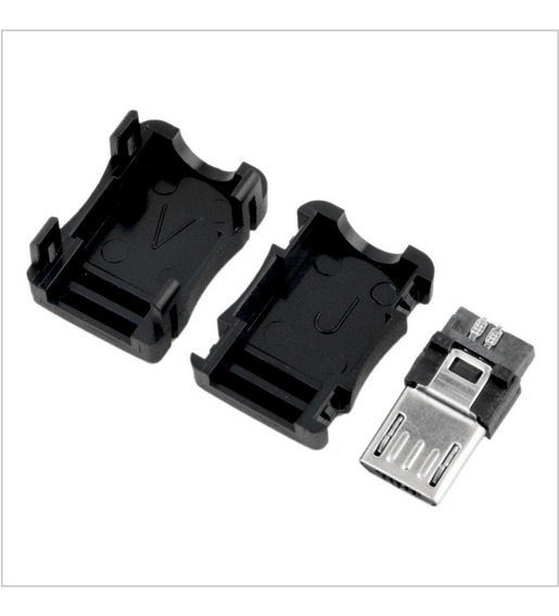 Conector Micro Usb Macho 10 Kits Para Montar 10 Peça
