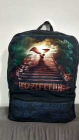 Mochila Grande Escolar Led Zeppelin Banda Rock Metal