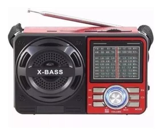 Rádio Analógico Antigo Portátil 7 Bandas Am Fm Sw Mp3 Musica
