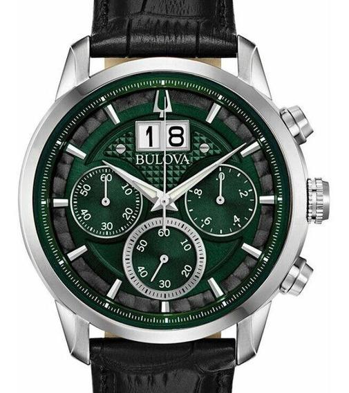 Relogio Bulova Masculino Sutton Cronografo Verde 96b310