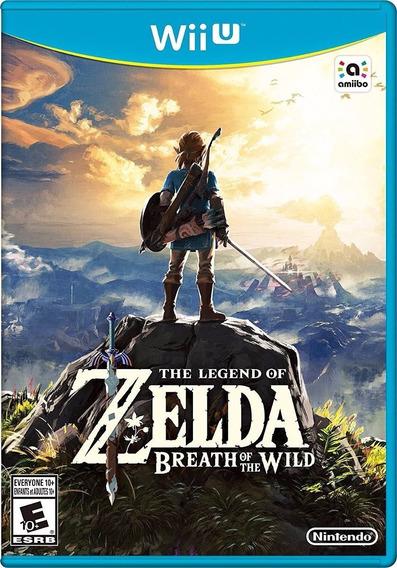 Zelda Breath Of The Wild Wii U - Novo Lacrado Americano