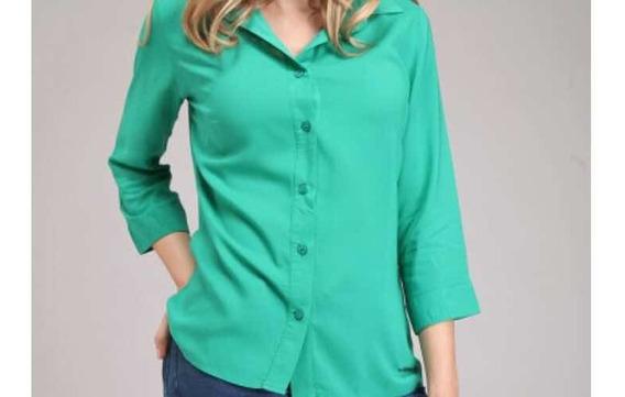 Camisa Verde Benetton Talle Xl Y L