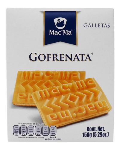 Imagen 1 de 2 de Galleta Macma Gofrenata 150g