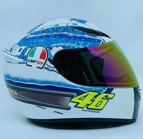 Capacete Valentino Rossi Df2 Tavulia Com 2 Viseiras