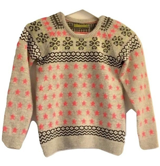 Sweater Buzo Niña Rapsodia Nena Lana Estampado Invierno