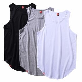 Kit 10 Camiseta Regata Masculina Longline Oversized Atacado