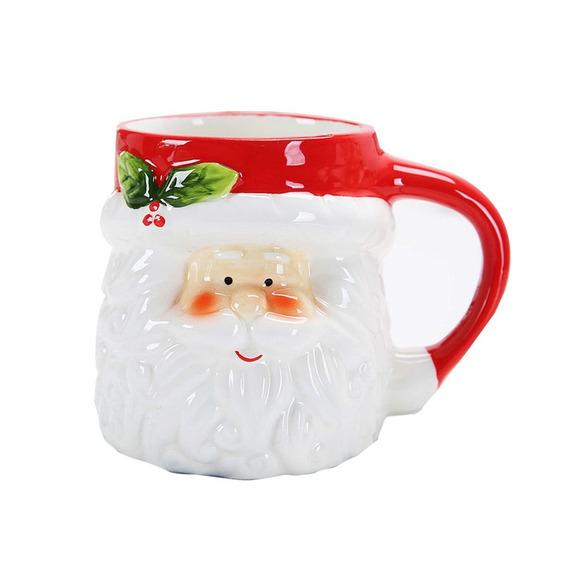 Copo Caneca Cerâmica Natal Animal 3d - Forma Leite Copo Café