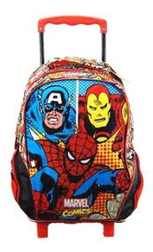 Mochila Com Rodas 16 Marvel Comics Trio - 7060