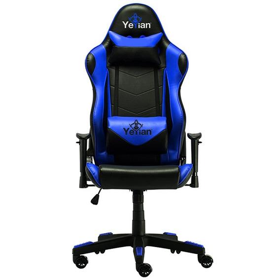 Silla Gaming Yeyian Armazon Metalico Azul Descansabrazos