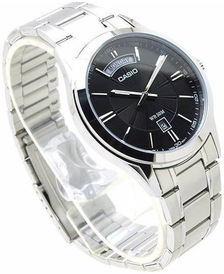 Reloj Casio Analogo Mtp1381 Cristal Mineral Acero Inoxidable Fechador