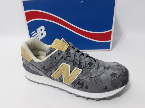 Tênis Nb New 574 Camuflado Camo Cinza Sneaker 90 Original