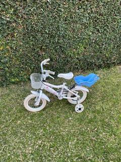 Bicicleta Vairo Rodado 12 Niñas Impecable,con Ruedas Auxi