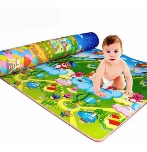 Tapete Dupla Face Atividades Bebe Infantil Portátil Conforto