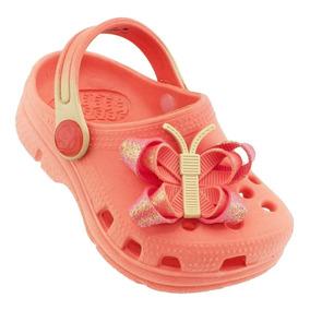 Babuche Plugt Borboleta Infantil - Coral/rosa