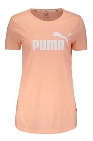 Camiseta Puma Essentials Heather Feminina Coral