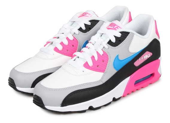 Tenis Nike Air Max 90 Ltr Blanco/rosa Tallas #23½ Mujer Psd