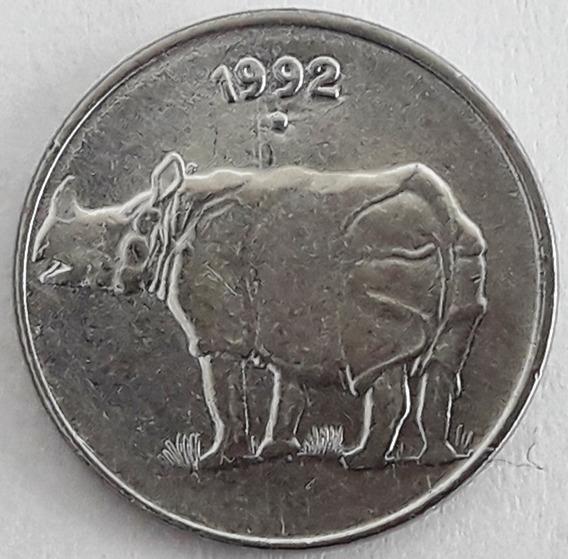 India Moneda Del Año 1992 De 25 Paise - Rinoceronte