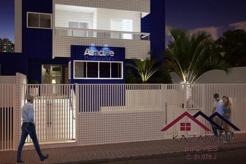 Apartamento De 2 Dormitórios Na Guilhermina, Praia Grande/sp - 3461