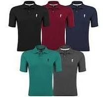 Kit 3 Camiseta Polo Piket 100%algodao