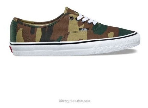 Tenis Vans Authentic Camo Woodland Casual Skate Urban Beach