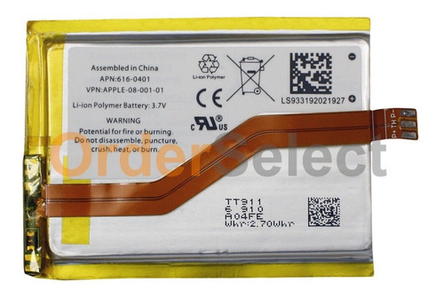Imagen 1 de 2 de Bateria Mp3 Para iPod Touch Itouch 2 2nd Gen 8gb 16gb 32gb *