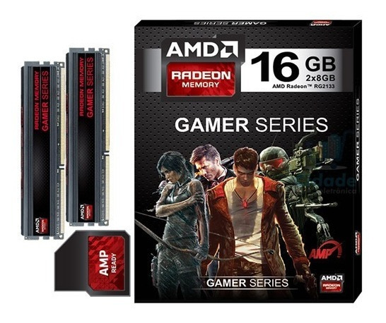 Kit Memoria Amd Radeon Gamer Series 16gb (2 X 8gb) Ddr3 2133