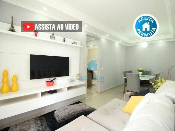 Ap0396- Apartamento Com 2 Dormitórios À Venda, 54 M² Por R$ 225.000 - Jardim Cirino - Osasco/sp - Ap0396