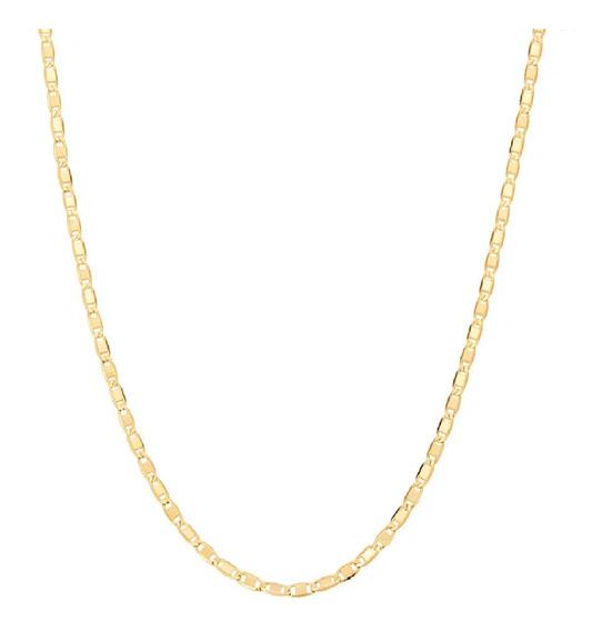 Cordão 42cm Fita Feminino Rommanel Folheado Ouro 531155