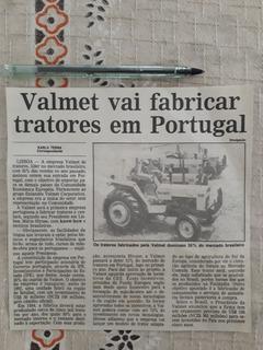 Recorte Jornal Matéria Reportag Trator Valmet 118 88 Anúncio